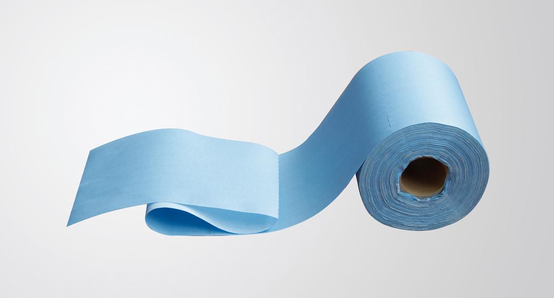 蓝色卷状无尘纸